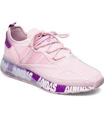 zx 2k boost w låga sneakers rosa adidas originals