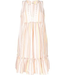 lemlem striped beach dress - multicolour