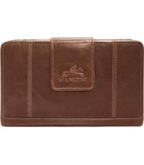 mancini casablanca collection rfid secure ladies medium clutch wallet