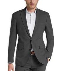 cole haan grand. os gray coolmax lined slim fit suit