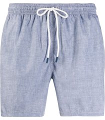 fedeli elasticated waist swim shorts - blue