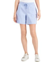 karen scott knit shorts, in regular & petite, created for macy's