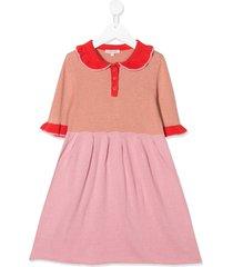 caramel portobello cotton dress - pink