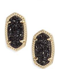 kendra scott ellie earrings in gold black drusy at nordstrom