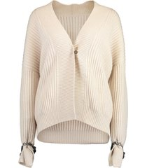 monili bracelet cashmere english ribbed cardigan