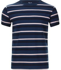 camiseta a rayas horizontales color azul, talla s