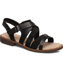 declan mix shoes summer shoes flat sandals svart clarks