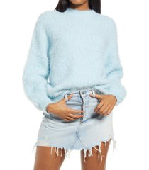 women's sndys cozi pullover sweater, size small - blue