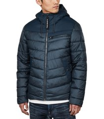 g-star raw men's hooded puffer jacket, created for macy's