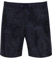 pantalóneta de baño aloha color azul, talla xs