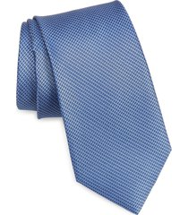 men's nordstrom burgen micro pattern silk tie, size regular - blue