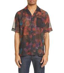 men's dries van noten carltone floral short sleeve button-up shirt
