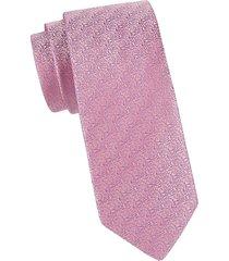 eton men's patterned silk tie - pink red