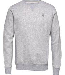 premium core r sw l\s sweat-shirt tröja grå g-star raw