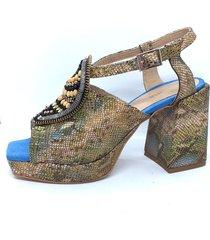 sandalia verde calabria amanda