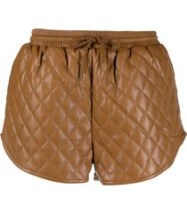 apparis percy quilted shorts - brown