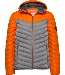 chevron colour block down gevoerd jack oranje superdry