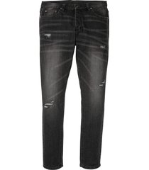 jeans elasticizzati effetto sdrucito slim fit tapered (grigio) - rainbow