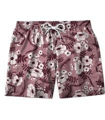 short borzzi wear praia estampado floral multicolorido