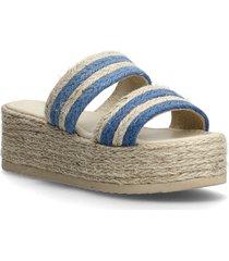 plateau raffia sandals sandalette med klack espadrilles beige by malina