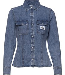 archive lean shirt overhemd met lange mouwen blauw calvin klein jeans