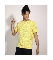 camiseta bart simpson manga curta gola careca amarela