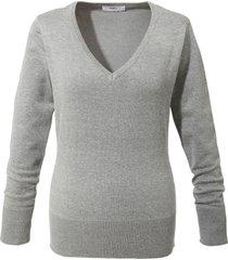 maglione in filato fine con scollo a v (grigio) - bpc bonprix collection