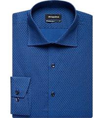 esquire blue floral slim fit dress shirt