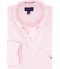 overhemd gant oxford roze regular fit