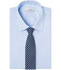 cravatta su misura, lanieri, geometria seta blu, quattro stagioni | lanieri