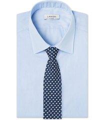 cravatta su misura, lanieri, geometria seta blu, quattro stagioni