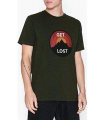 wood wood get lost t-shirt t-shirts & linnen dark green