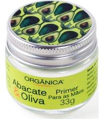 orgã¢nica abacate & oliva - primer para as mã£os 33g - verde - feminino - dafiti