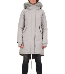 airforce double zip fishtail parka silver sage