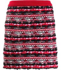 thom browne woven mini skirt - red