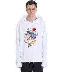 lanvin sweatshirt in white cotton