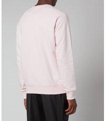 balmain men's eco sustainable foil sweatshirt - pale pink/silver - xl