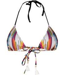 mc2 saint barth el paso-print bikini top - silver
