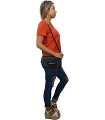 bolsa carteira clutch topgrife transversal couro feminina - feminino