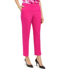 kasper stretch crepe elastic-back pants