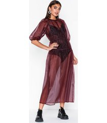 nly trend mystique organza dress loose fit