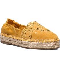 woms slip-on sandaletter expadrilles låga gul tamaris