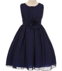 navy blue yoryu chiffon flower girl dresses birthday bridesmaid pageant wedding