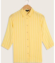 blusa camisera manga 3/4 lineas-l