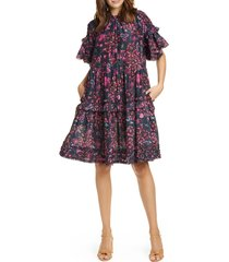 women's ulla johnson fawn tiered floral dress