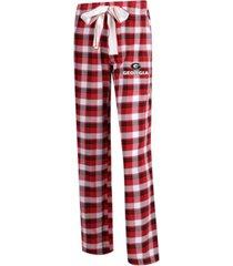 concepts sport women's georgia bulldogs piedmont flannel pajama pants