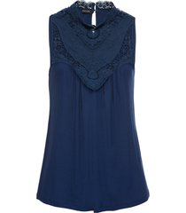 top con pizzo (blu) - bodyflirt