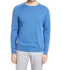 peter millar crown crafted cotton blend crewneck sweater, size small r in lunar blue at nordstrom
