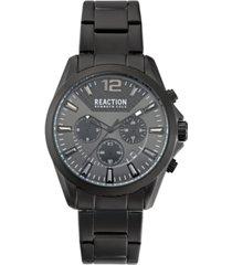 kenneth cole reaction men's black bracelet watch 44mm