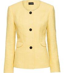blazer corto in tweed (giallo) - bodyflirt